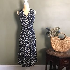 Navy Daisy Petite Maxi Dress